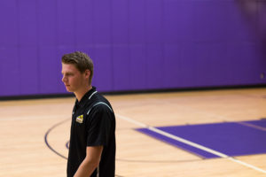 New Lions assistant volleyball coach Tristan Davis, who played against Emerson's men's volleyball team in the GNAC last season, will work with both teams. ASHTON LYLE / BEACON CORRESPONDENT