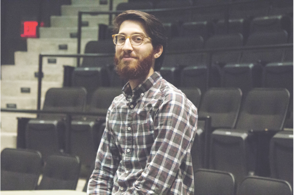 Affiliated faculty member and performing arts graduate MJ Halberstadt '10 was chosen as a 2017 Huntington Theatre Playwriting Fellow. CASSANDRA MARTINEZ / BEACON STAFF