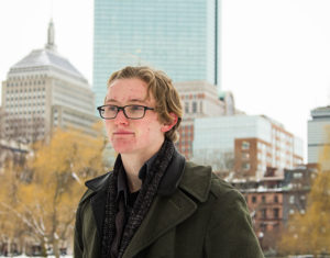 Owen Elphick is the youngest writer to be published in The Hartford Courant's Poet's Corner. Photo: Cassandra Martinez/ Beacon Staff