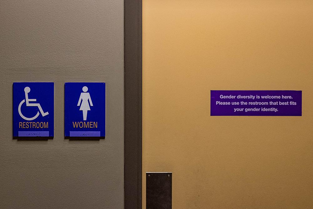 Signs similar to these were implemented at ELA. Photo: Justin Scott Johnson/Berkeley Beacon.