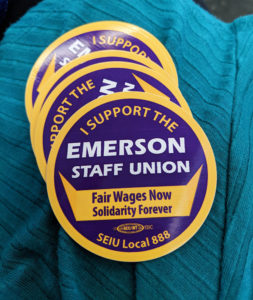 The Emerson Staff Union is hoping to have some of their sacrificed benefits reinstated, especially for some of the at-risk staff members.