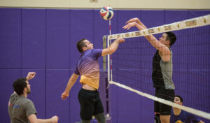 The men's volleyball team is 2-4 in the GNAC with eight games remaining. Photo: Daniel Peden/Beacon Staff