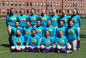 At last year's event, the softball team raised $1,000 for RAINN. Courtesy of Jillian Gearin