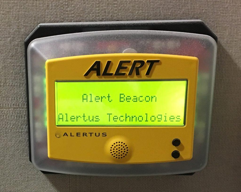 The new alert system is designed to be broadcast throughout classrooms and buildings, emitting light and louder sound. Tomas Gonzalez // Beacon Correspondent