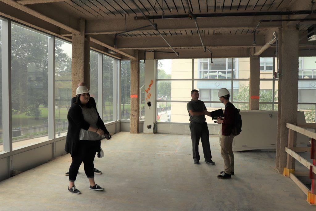 Interior construction on The Commons should begin by the end of the week.  Kyle Bray // Beacon Staff