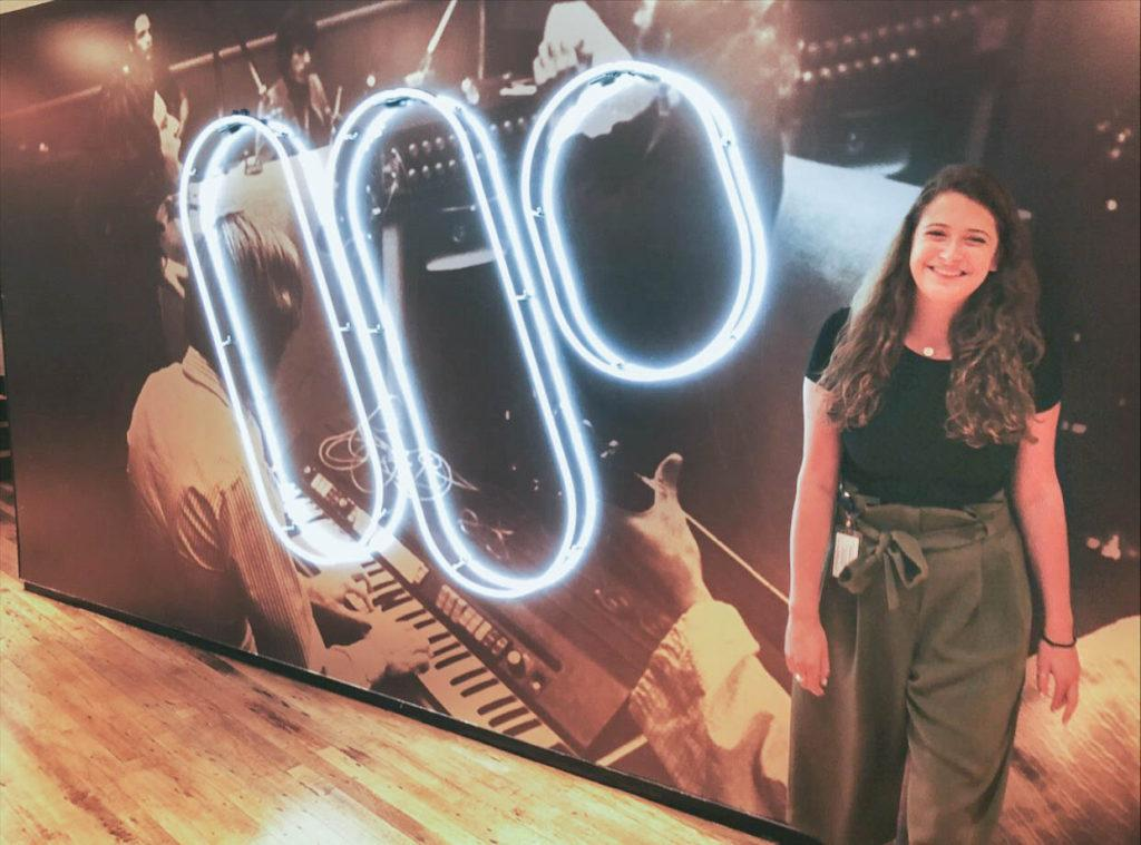Jessica Braunstein at her internship with Atlantic Records. Courtesy of Jessica Braunstein