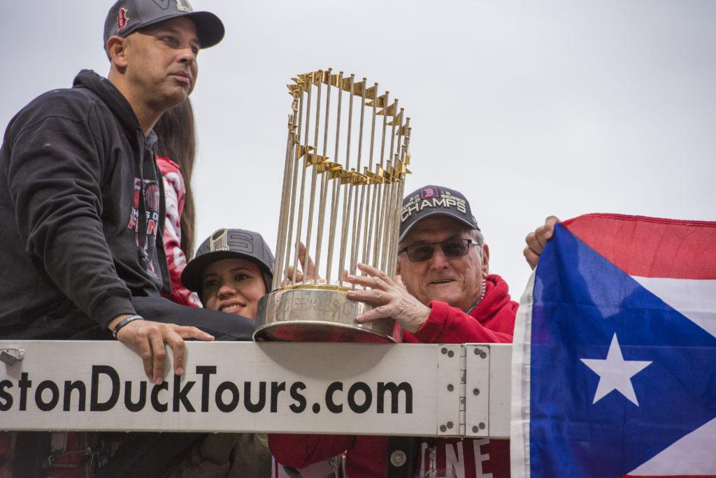 Watch: Students, fans celebrate Red Sox World Series victory parade