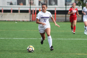 Women's soccer loses to WPI after two late goals