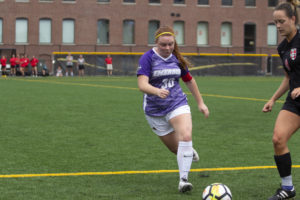 Late double overtime goal gives women's soccer historic win