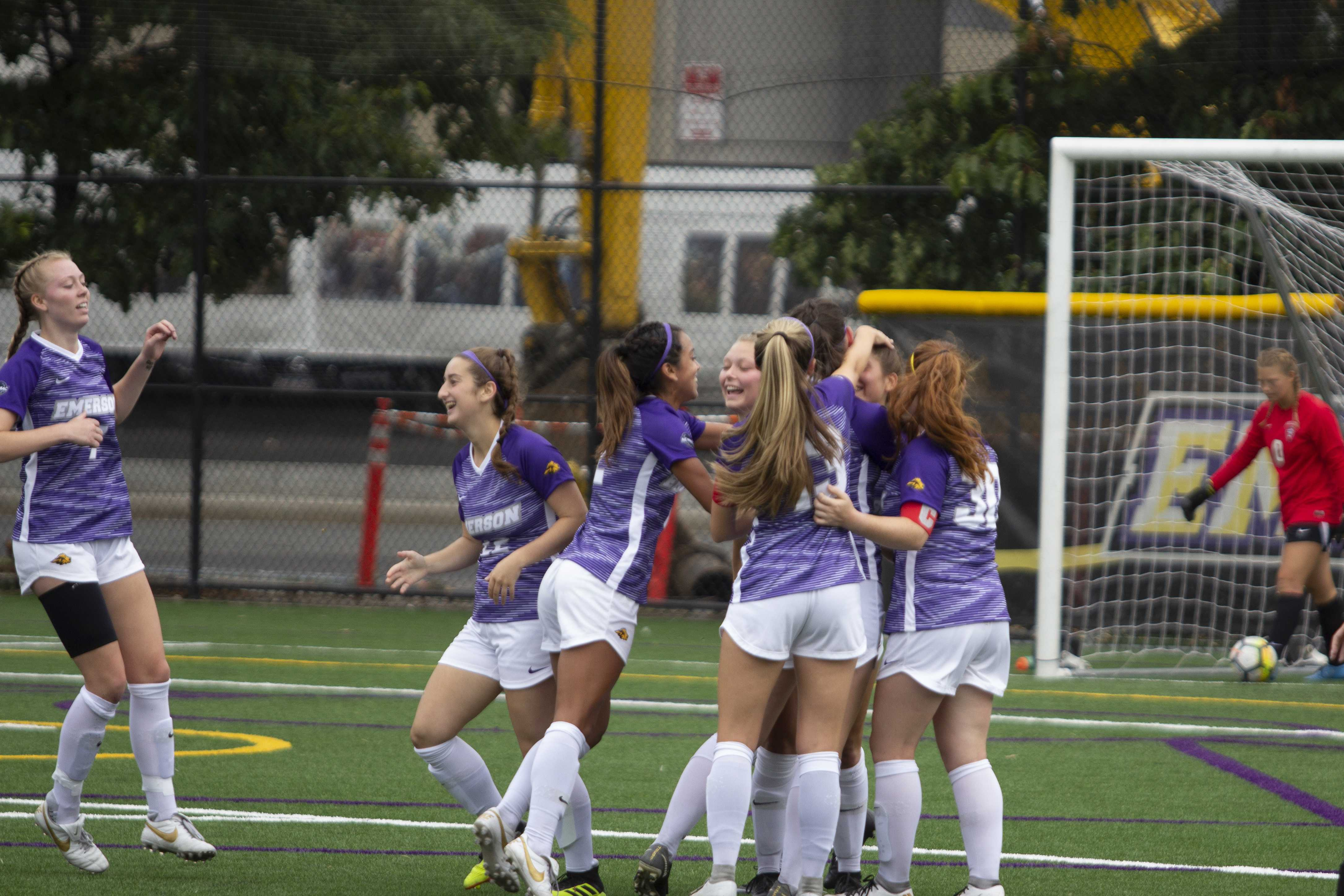 The women's soccer team defeated Babson 3-2 in its only game against the Beavers this season. Photo by Kyle Bray / Beacon Staff
