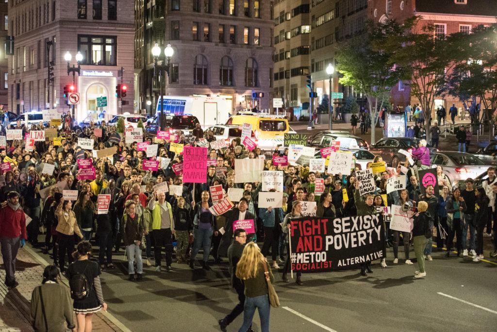 Emerson student leads march through Boston against Kavanaugh