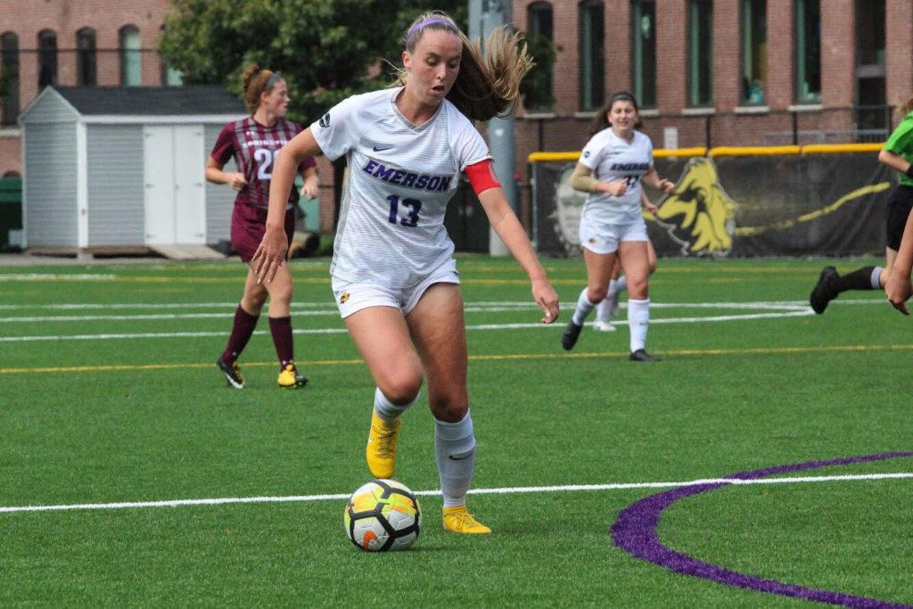 Senior Jess Frost leads the women's soccer team in scoring with 15 points. Photo by Anissa Gardizy / Beacon Staff