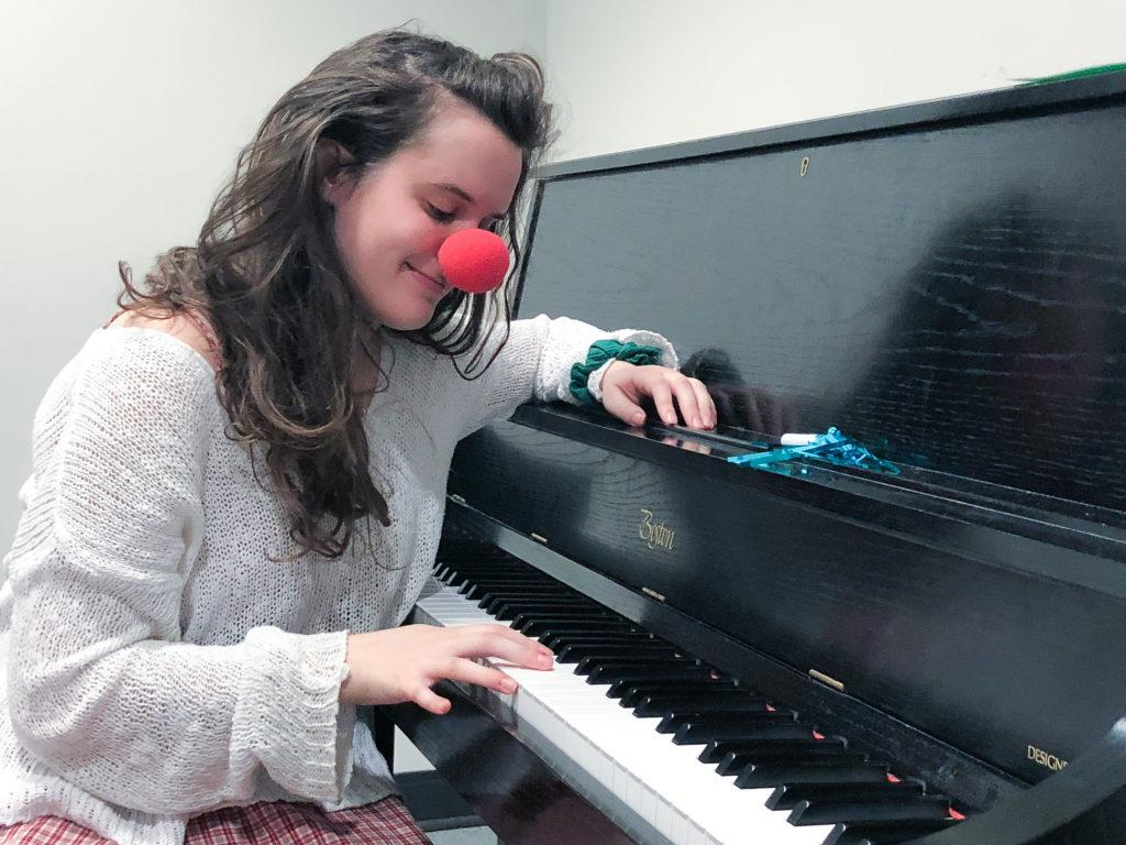 Junior  Hallie Perlman studied clowning with famous clowns and returned to Emerson to begin the first physical comedy group, Body Electric. Photo by Sabrina Ortiz / Beacon Correspondent