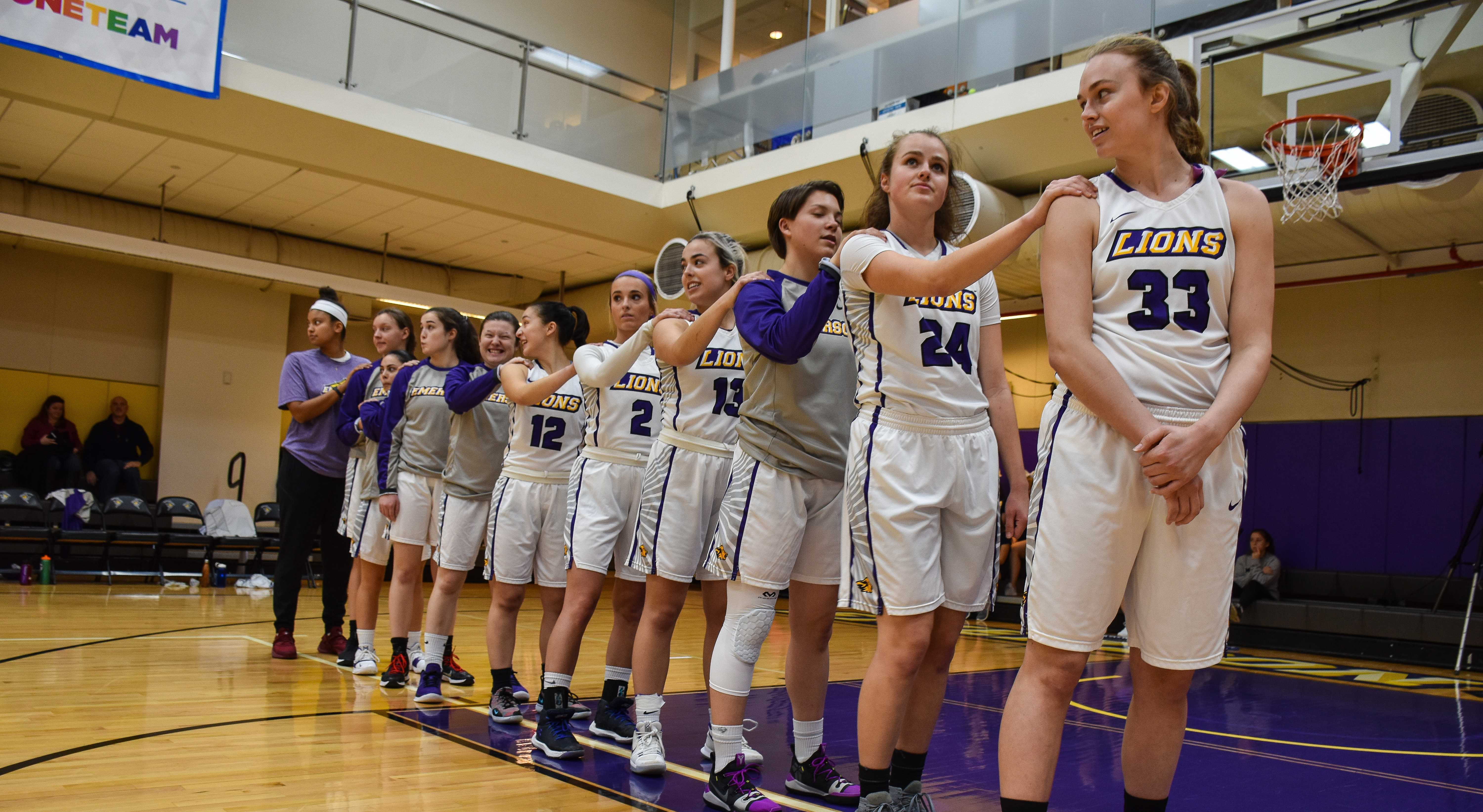The women's basketball team opened the season with a 71-42 win over Gordon and a 68-62 loss to Suffolk. Photo by Anissa Gardizy / Beacon Staff