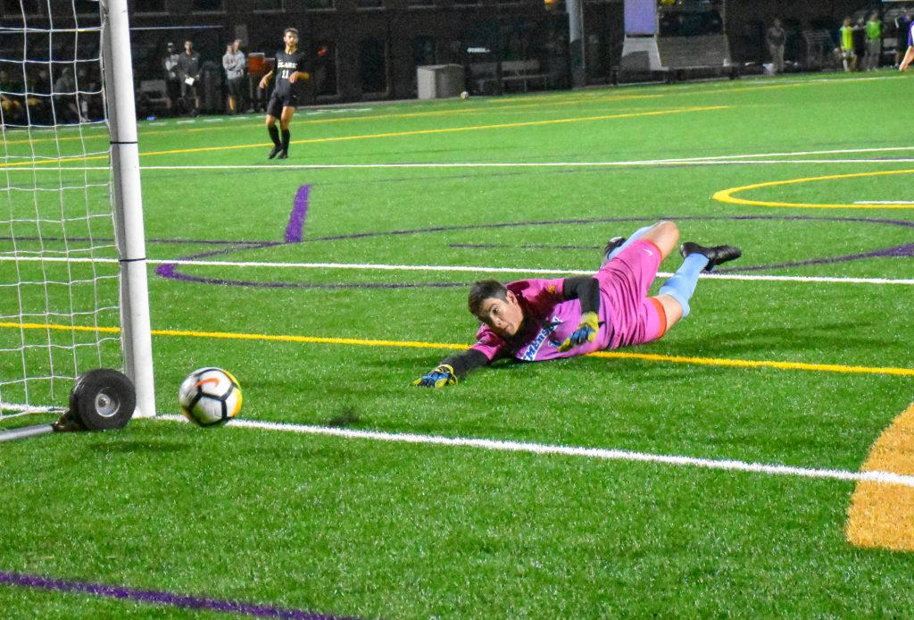 Shinder played in three games for the men's soccer team this season. Photo by Anissa Gardizy / Beacon Staff