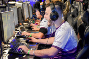 The Emerson College Esports 'Overwatch' team lost to Northeastern 2-0 in the first round. Photo by Anissa Gardizy / Beacon Staff