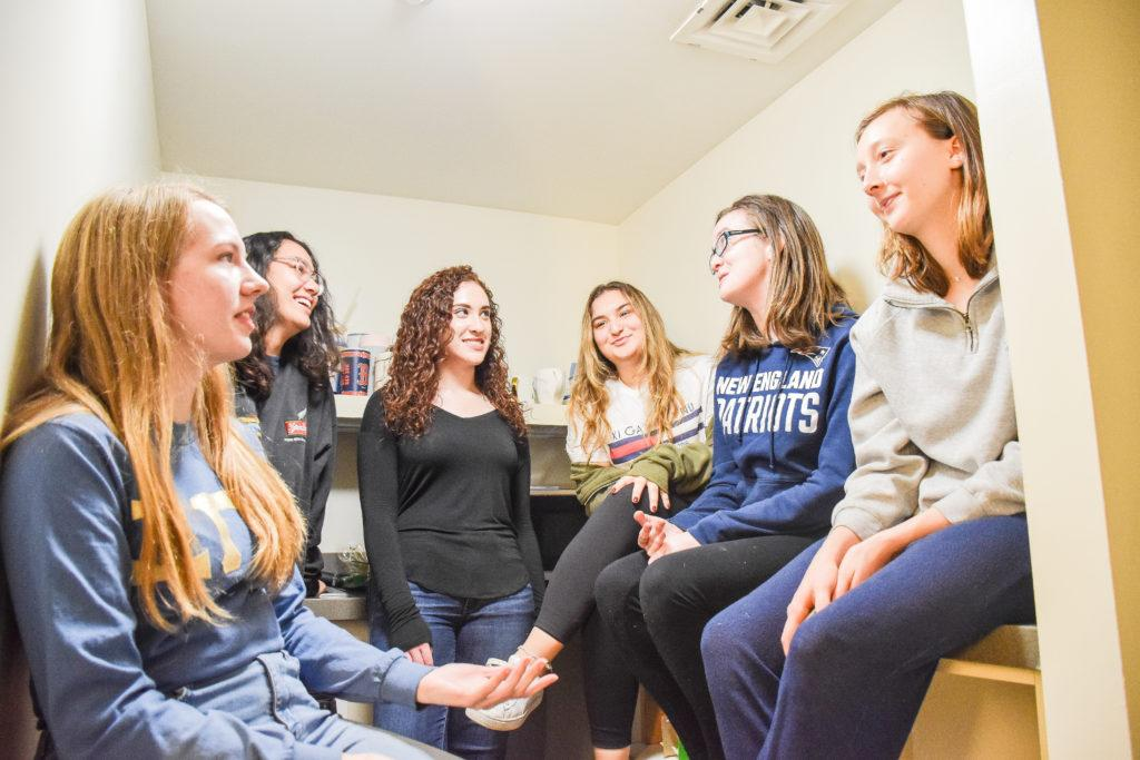 The+eight-person+suites+were+part+of+a+two-year+plan+to+house+first-year+students+while+the+101-year-old+Little+Building+underwent+renovations.+Anissa+Gardizy+%2F+Beacon+Staff