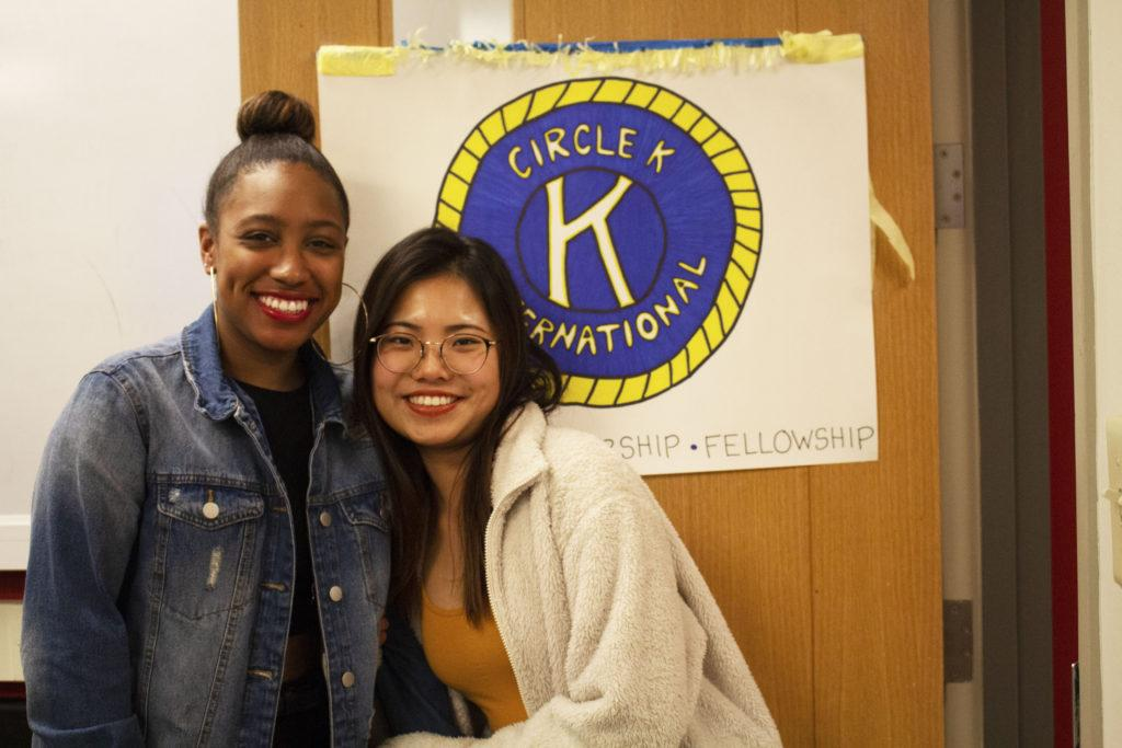 Freshmen+Eryn+McCallum+%28left%29+and+Liza+Xiao+%28right%29+began+an+initiative+to+start+a+Circle+K+International+service+organization+on+campus.+%E2%80%A2++Maia+Sperber+%2F+Beacon+Staff