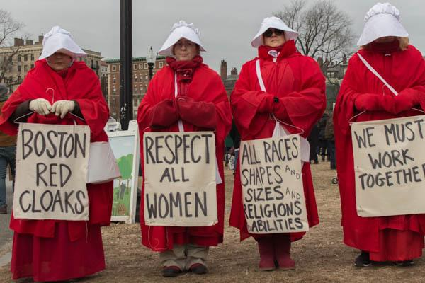 Watch: People march on Boston Common for women's rights