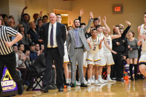 Watch: Men's basketball beats Springfield to advance to NEWMAC championship game