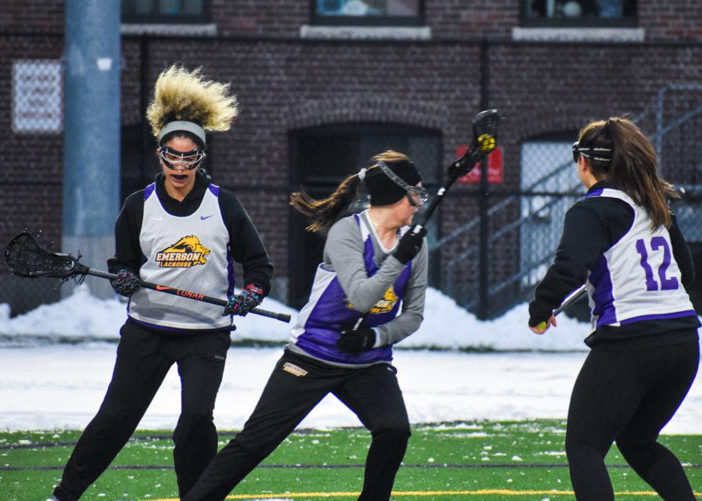 The+women%27s+lacrosse+team+lost+in+its+first+game+of+the+season+13-6+against+Becker+College.+Photo+by+Abbey+Finn+%2F+Beacon+Correpondent