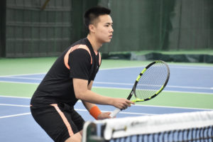 Undefeated freshman tennis player shines as team's top option