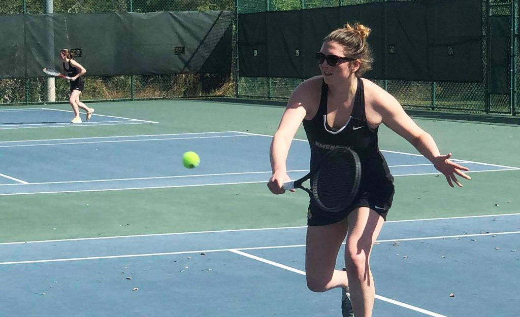 Rachel Scalera has appeared in the first doubles match of every game this season for the Lions. Courtesy of Maximo Lawlor