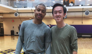 Former Celtics All-Star plays 5-on-5 with Emerson students