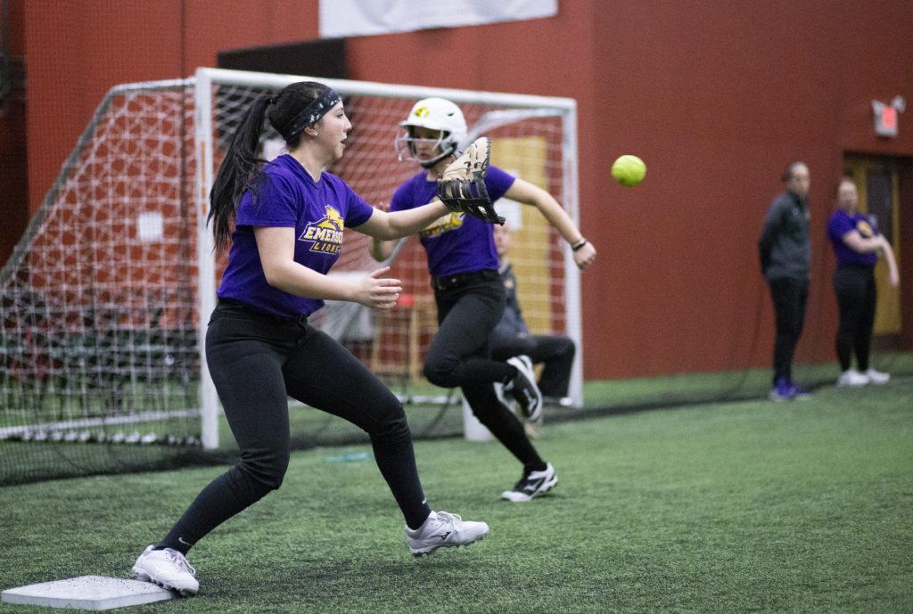 The softbal team raised $2,430 last year and have raised $1,305 so far this year for RAINN. Photo by Alexa Schapiro / Beacon Staff