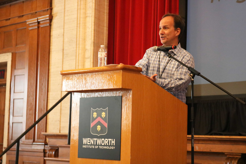 """Building Hope in an Era of Uncertainty"" featured multiple Venezuelan speakers, such as Miguel Angel Santos from Harvard University. Tomas Gonzalez / Beacon Staff"