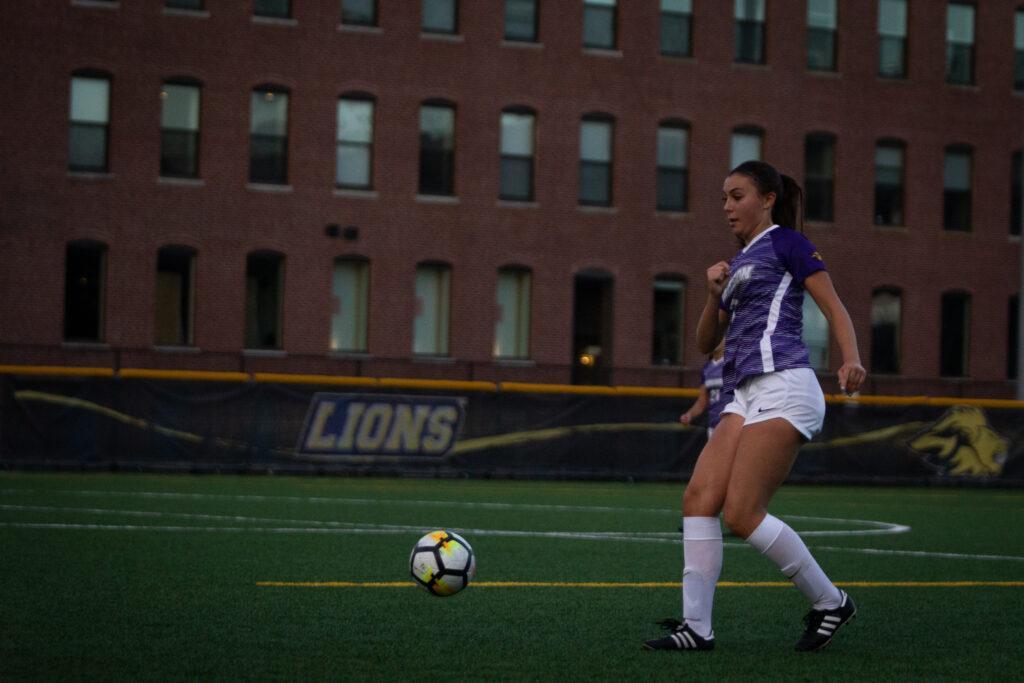 Freshman Sage Stack had one shot on goal against Thomas College. Rachel Culver / Beacon Staff