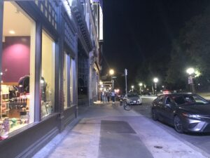The college plans to expand the width of the sidewalk between Tremont St. and Boylston Pl. Stephanie Purifoy / Beacon Staff