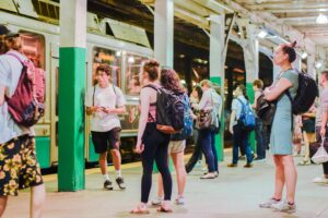 The MBTA construction is part of an $8 billion, five-year plan to modernize the trains. Jakob Menendez/Beacon Staff