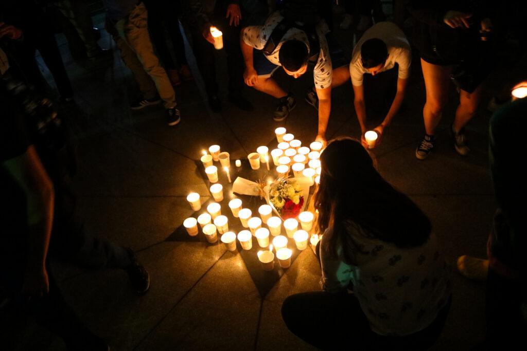 Community members hold nineteenth annual 9/11 vigil. Jakob Menendez/Beacon Staff