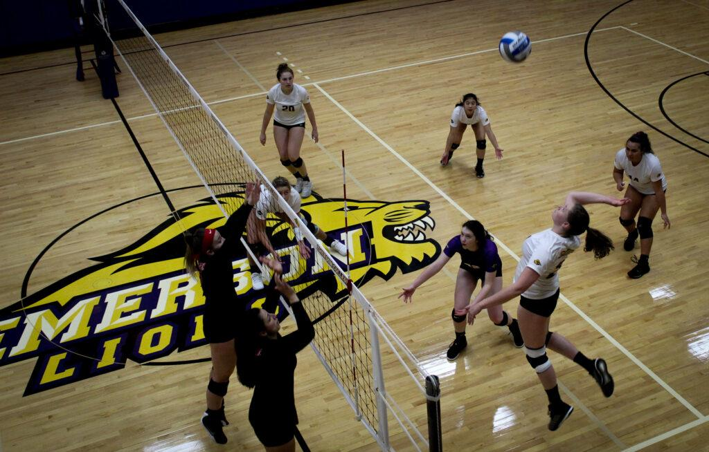 After its win against Clark University, the women's volleyball team ranks fifth in the NEWMAC. Rachel Culver / Beacon Staff