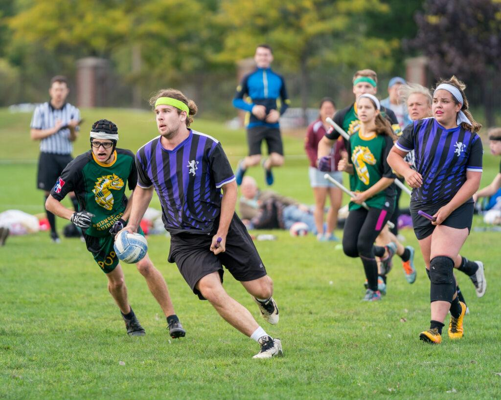 The+Emerson+College+Quidditch+team+will+play+in+the+regional+tournament+this+fall.+Photo+courtesy+of+Greyson+Acquaviva.