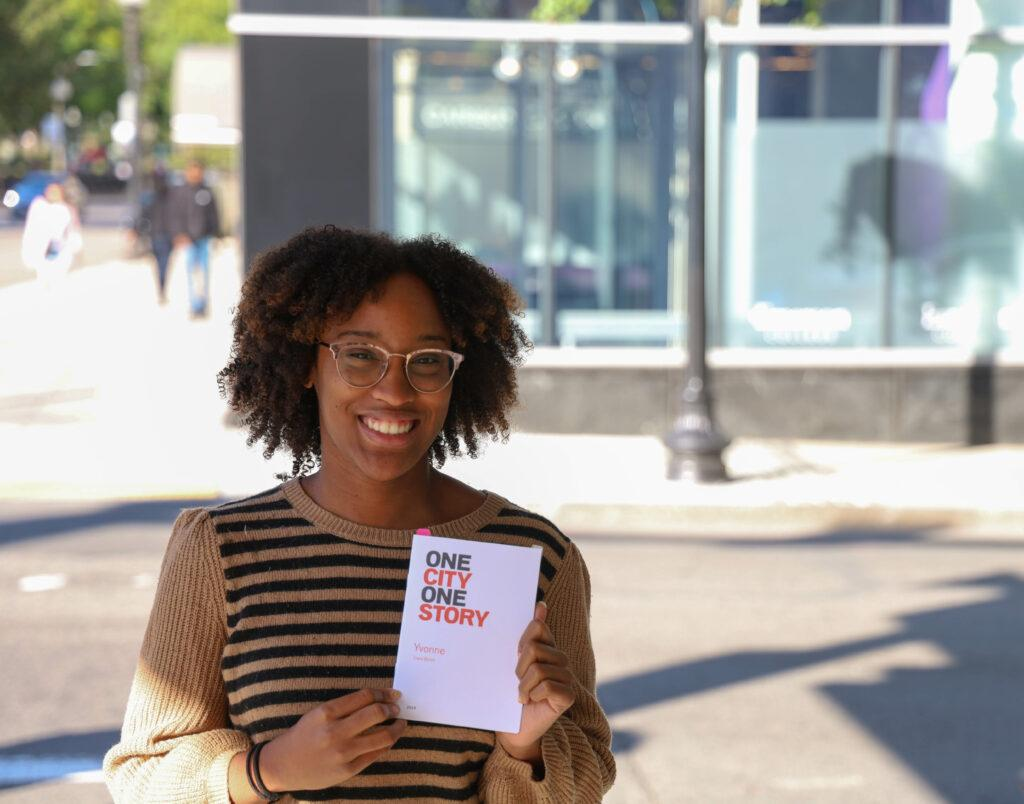 Graduate+student+Ciera+Burch+earned+a+spot+at+Boston+Book+Festival+for+her+short+story+%E2%80%9CYvonne%2C%E2%80%9D+selected+for+the+One+City+One+Story+series.+Domenic+Conte+%2F+Beacon+Staff