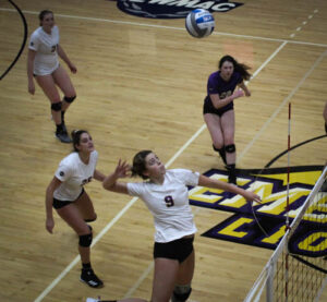 The women's volleyball team notched its 17th win of the season on senior day. Rachel Culver / Beacon Staff