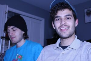 Sophomore Shane Sullivan (right) collaborated with his brother Nick (left) to produce an abstract alternative album under their band name Joyer. Photo courtesy of Shane Sullivan.