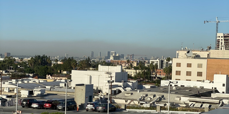 The Getty Fire broke out approximately 16 miles away from the Emerson LA campus on Monday. Photo courtesy of Timothy Chang.