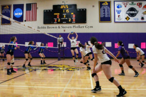 Women's volleyball cruises to fourth straight win