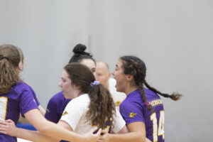 The women's volleyball team advanced to the NEWMAC championship game on Saturday, Nov. 9 at 1 p.m. Montse Landeros / Beacon Staff