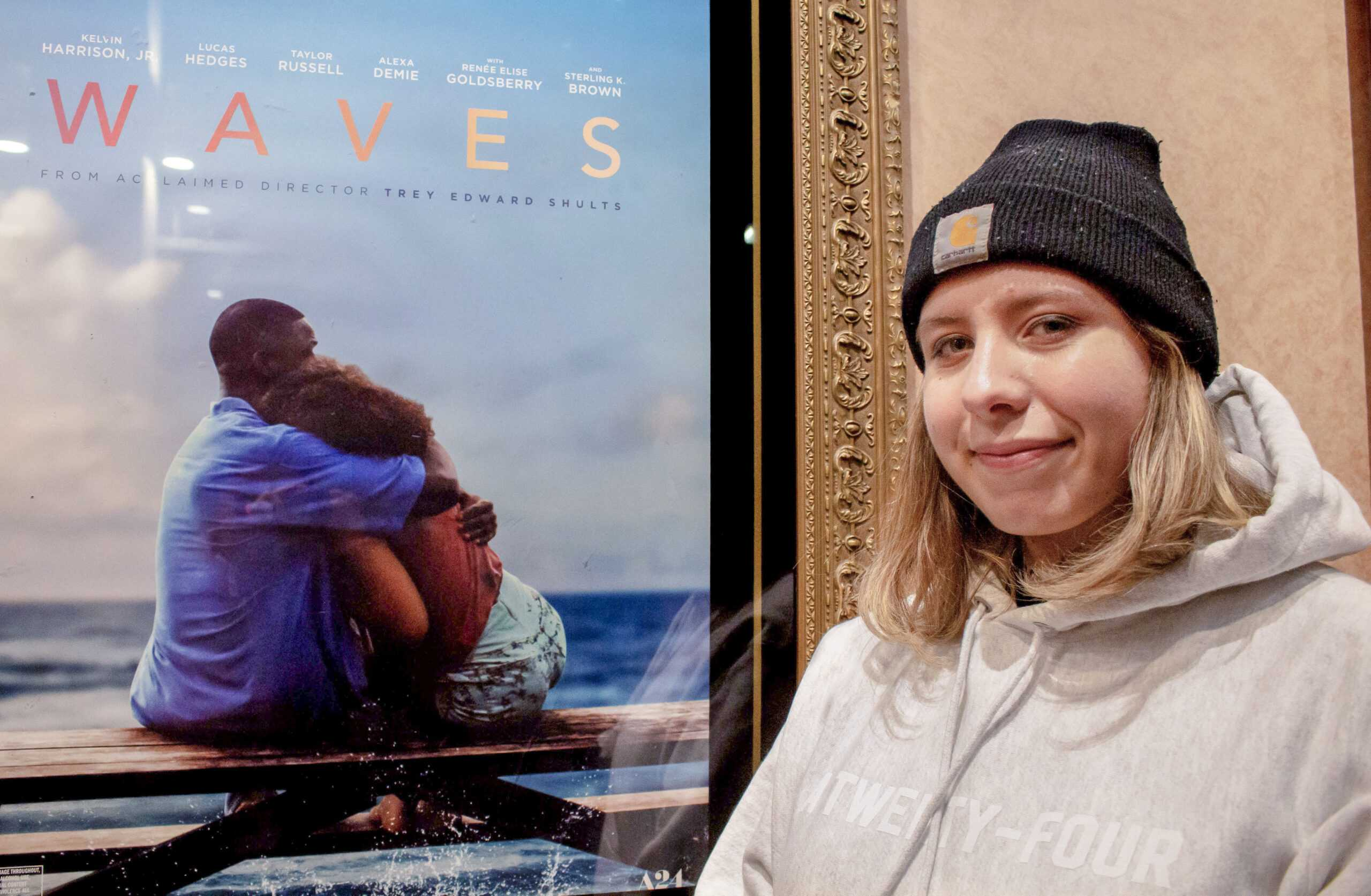 Senior Kat Garelli works as an on-campus A24 intern and organized the 'Waves' screening. Montse Landeros / Beacon Staff