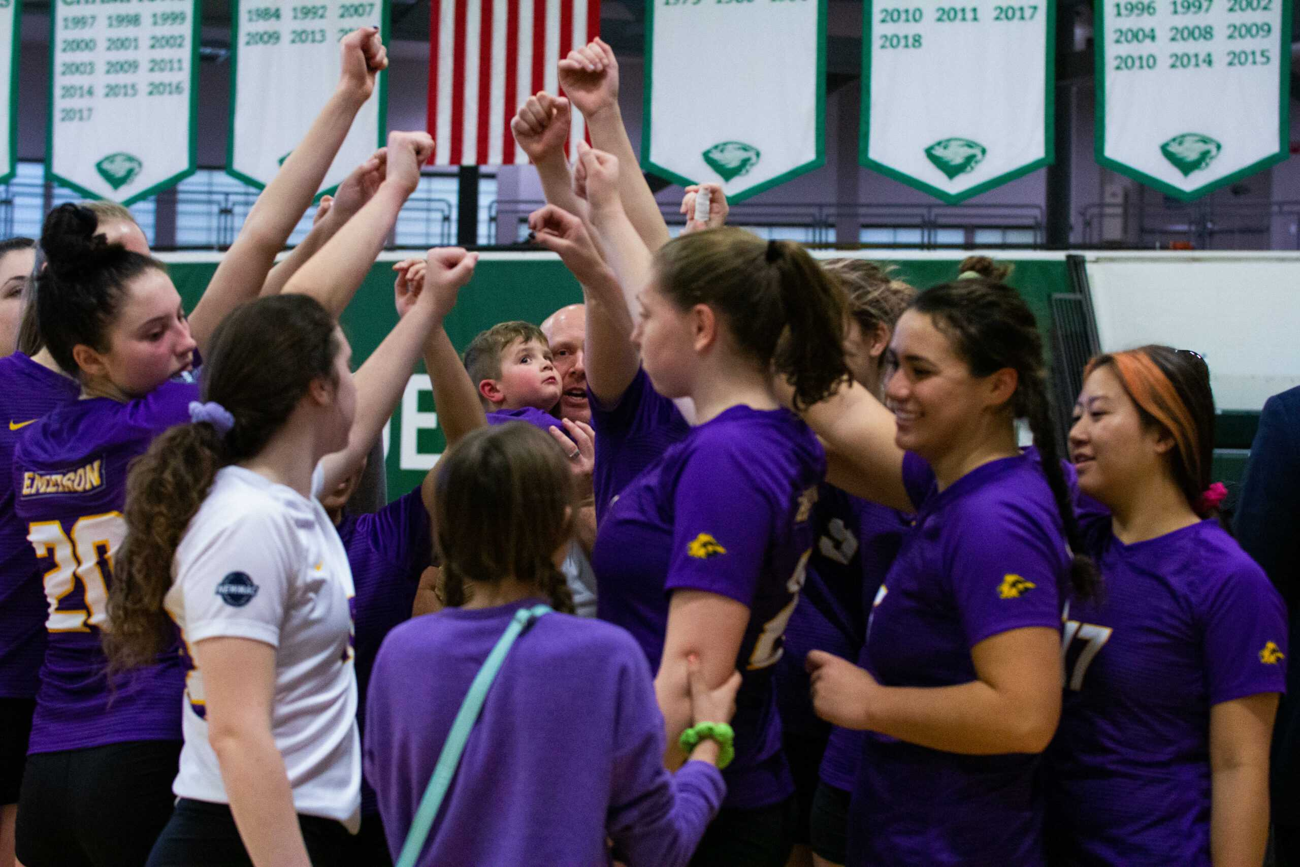 The women's volleyball team lost 3-0 in the NEWMAC Championship. Cho Yin Rachel Lo / Beacon Staff