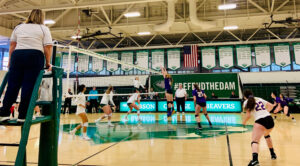 Women's volleyball swept in conference championship