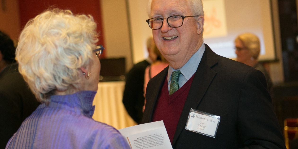 Lifetime Marlboro College trustee Ted Wendell was one of the first donors to the ArtsEmerson program.