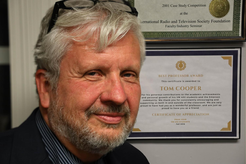 Professor Tom Cooper next to a