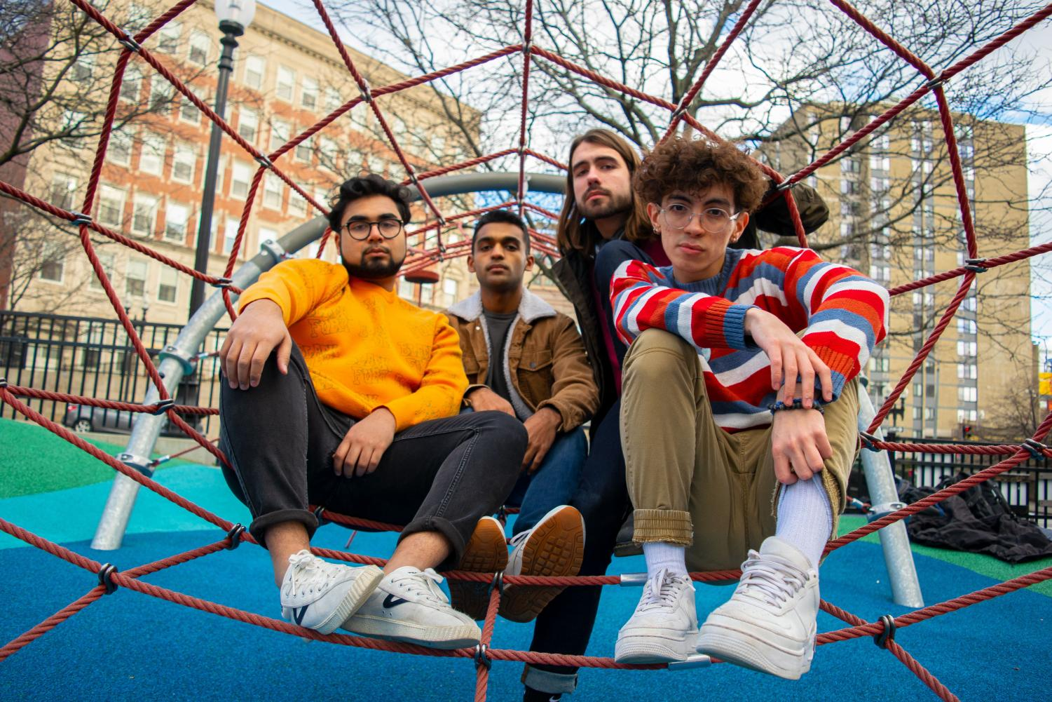 Karthik Ramaswami '22, Amogh Matthews '22, Henry Tyndall '22, and Thomas Chadwick '22 plan to release first music video and new single for their band Sunsetta this January.