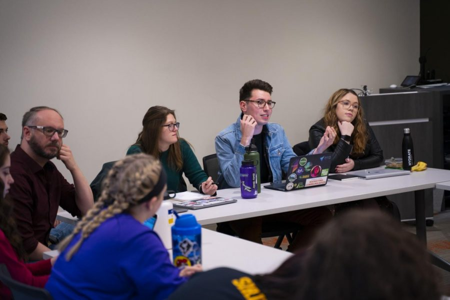 A Spring 2020 Student Government Association meeting.