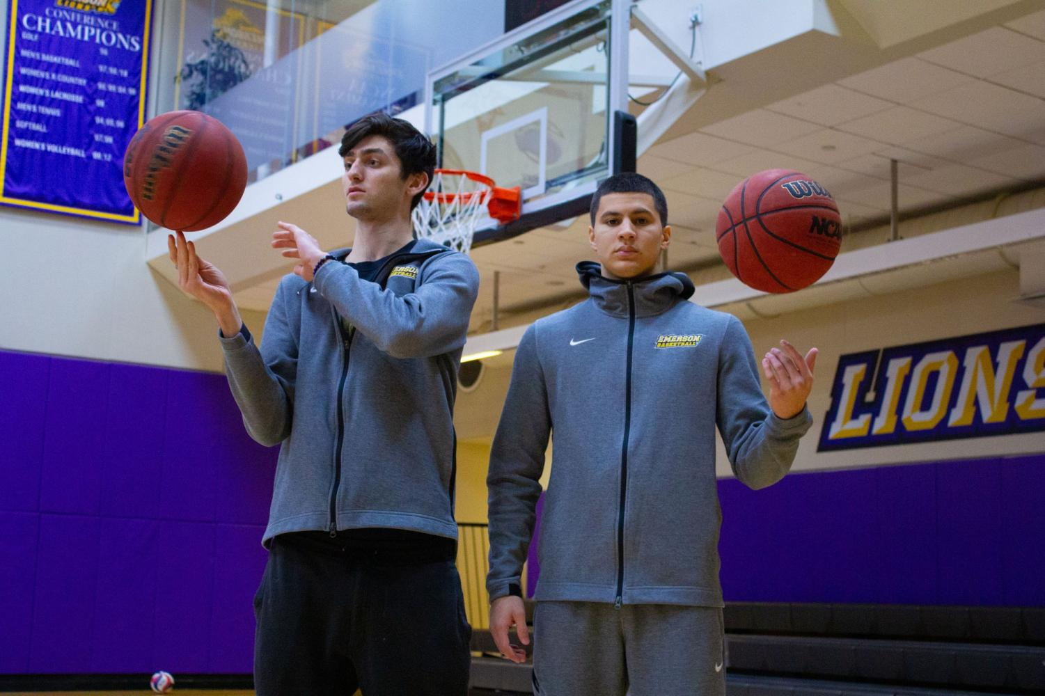 Max Davis (left) and Bryan Lupianez (right) joined the men's basketball team in late December Photo credit: Cho Yin Rachel Lo